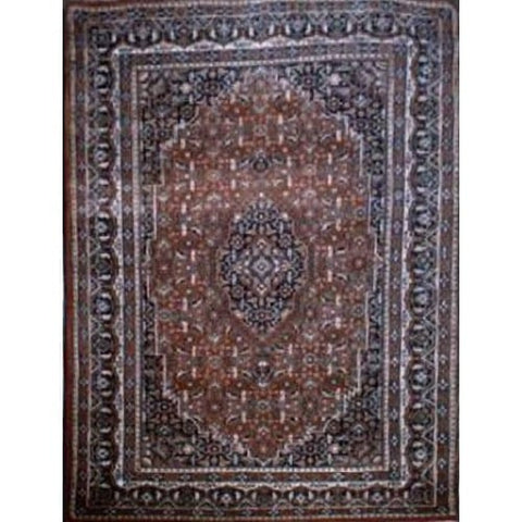 "Home Collection Afghani Style Oriental Hand-Knotted Rug with Natural Wool Area  6'8""  X  4'6"" ABCR02344"
