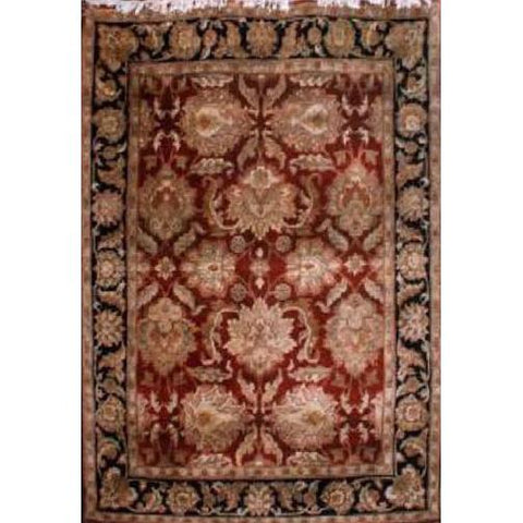 "Home Collection Afghani Style Oriental Hand-Knotted Rug with Natural Wool Area  5'0""  X  6'11"" ABCR02377"