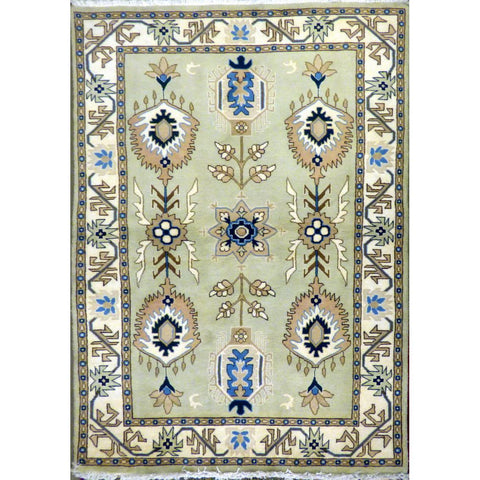 persian rug sarough Traditional Style Hand-Knotted Indoor Area Rug with Natural Wool and Cotton (4' x 6 ') ABCRG1002