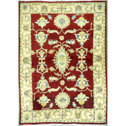 "persian rug sarough Traditional Style Hand-Knotted Indoor Area Rug with Natural Wool and Cotton (6'4"" X 4'1"") ABCRG1003"