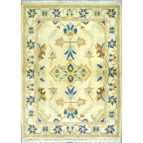 "persian rug sarough Traditional Style Hand-Knotted Indoor Area Rug with Natural Wool and Cotton (5'8"" X 4'0"") ABCRG1005"