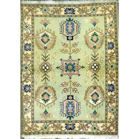 "persian rug sarough Traditional Style Hand-Knotted Indoor Area Rug with Natural Wool and Cotton (6'0"" X 4'4"") ABCRG1006"