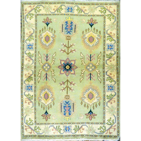 "persian rug sarough Traditional Style Hand-Knotted Indoor Area Rug with Natural Wool and Cotton 6'5"" X 4'1"") ABCRG1007"