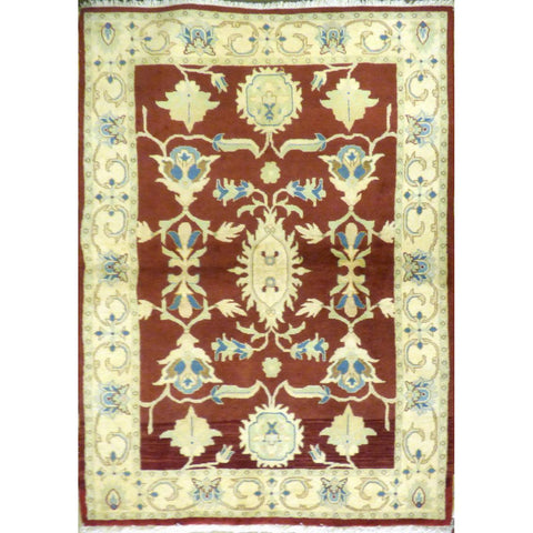 "persian rug sarough Traditional Style Hand-Knotted Indoor Area Rug with Natural Wool and Cotton (6'7"" X 3'11"") ABCRG1008"