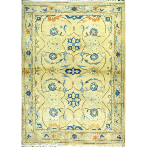 "persian rug sarough Traditional Style Hand-Knotted Indoor Area Rug with Natural Wool and Cotton ( 6'4"" X 4'1"") ABCRG1009"