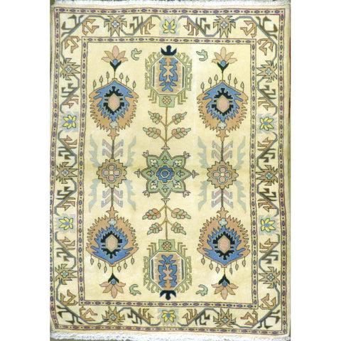 "persian rug sarough Traditional Style Hand-Knotted Indoor Area Rug with Natural Wool and Cotton (6'10"" X 4'1"") ABCRG1010"