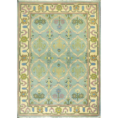 "persian rug sarough Traditional Style Hand-Knotted Indoor Area Rug with Natural Wool and Cotton (6'7"" X 4'0"") ABCRG1012"