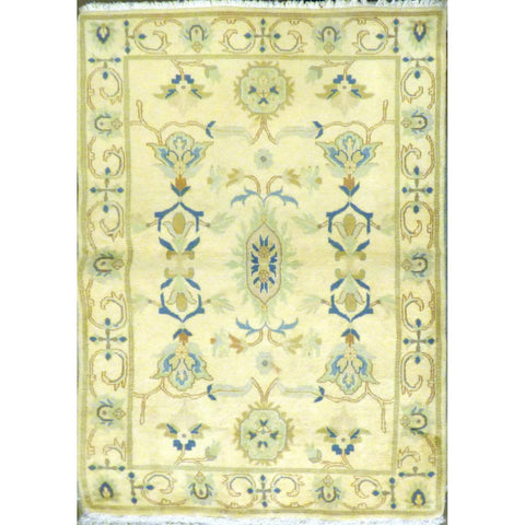 "persian rug sarough Traditional Style Hand-Knotted Indoor Area Rug with Natural Wool and Cotton (6'10"" X 4'0"") ABCRG1013"