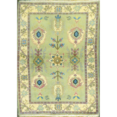 "persian rug sarough Traditional Style Hand-Knotted Indoor Area Rug with Natural Wool and Cotton (6'5"" X 4'0"") ABCRG1014"