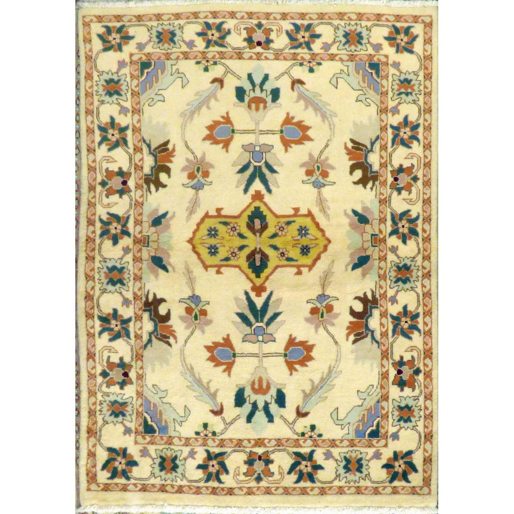 "persian rug sarough Traditional Style Hand-Knotted Indoor Area Rug with Natural Wool and Cotton (6'0"" X 3'10"") ABCRG1015"