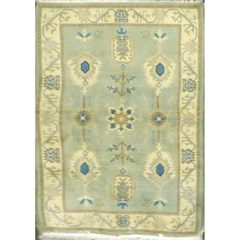 "persian rug sarough Traditional Style Hand-Knotted Indoor Area Rug with Natural Wool and Cotton (6'8"" X 4'0"") ABCRG1016"
