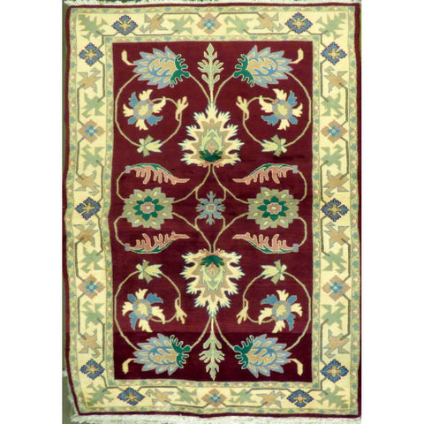 "persian rug sarough Traditional Style Hand-Knotted Indoor Area Rug with Natural Wool and Cotton (6'10"" X 4'0"") ABCRG1018"