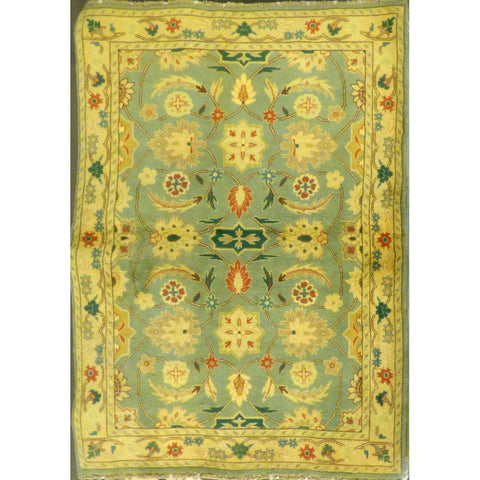 "persian rug sarough Traditional Style Hand-Knotted Indoor Area Rug with Natural Wool and Cotton (6'7"" X 4'2"") ABCRG1019"