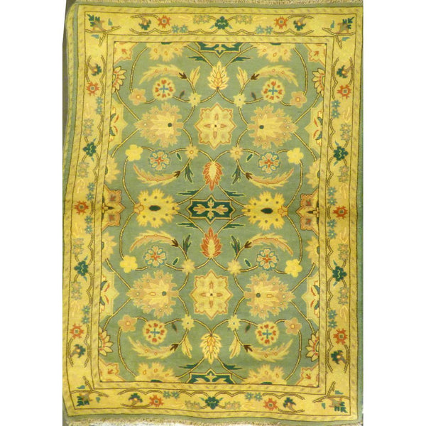 "persian rug sarough Traditional Style Hand-Knotted Indoor Area Rug with Natural Wool and Cotton (6'10"" X 4'1"") ABCRG1020"
