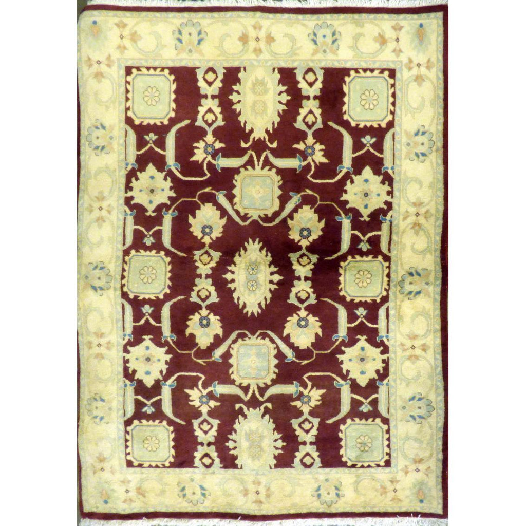 "persian rug sarough Traditional Style Hand-Knotted Indoor Area Rug with Natural Wool and Cotton (6'7"" X 4'3"") ABCRG1022"