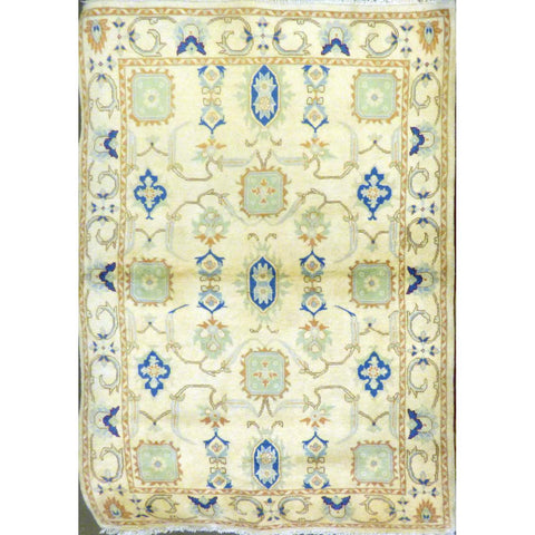 "persian rug sarough Traditional Style Hand-Knotted Indoor Area Rug with Natural Wool and Cotton (7'0"" X 4'3"") ABCRG1023"