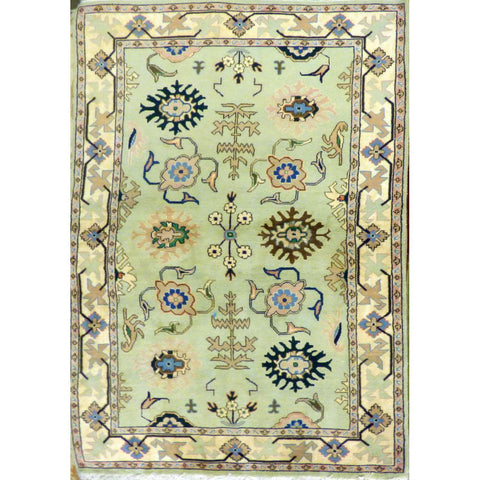 "persian rug sarough Traditional Style Hand-Knotted Indoor Area Rug with Natural Wool and Cotton (6'8"" X 4'0"") ABCRG1024"
