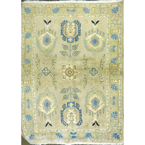 "persian rug sarough Traditional Style Hand-Knotted Indoor Area Rug with Natural Wool and Cotton (6'10"" X 4'2"") ABCRG1026"