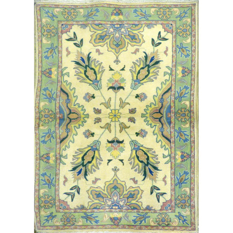 persian rug sarough Traditional Style Hand-Knotted Indoor Area Rug with Natural Wool and Cotton ( 4' x 6) ABCRG1028