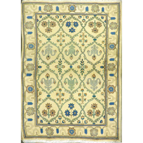 "persian rug sarough Traditional Style Hand-Knotted Indoor Area Rug with Natural Wool and Cotton (6'4"" X 4'0"") ABCRG1029"
