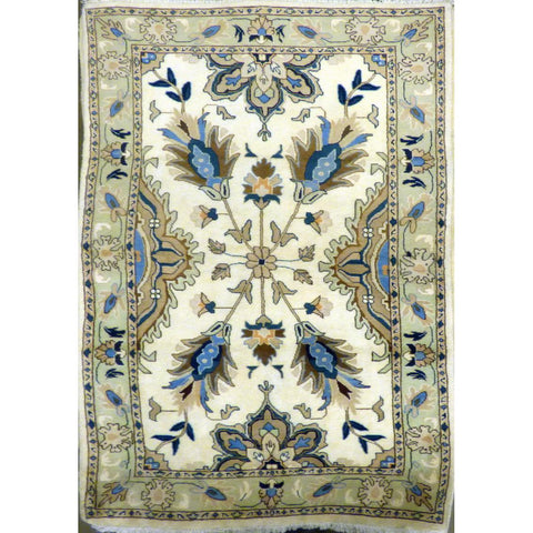 "persian rug sarough Traditional Style Hand-Knotted Indoor Area Rug with Natural Wool and Cotton (7'5"" X 3'11"") ABCRG1030"