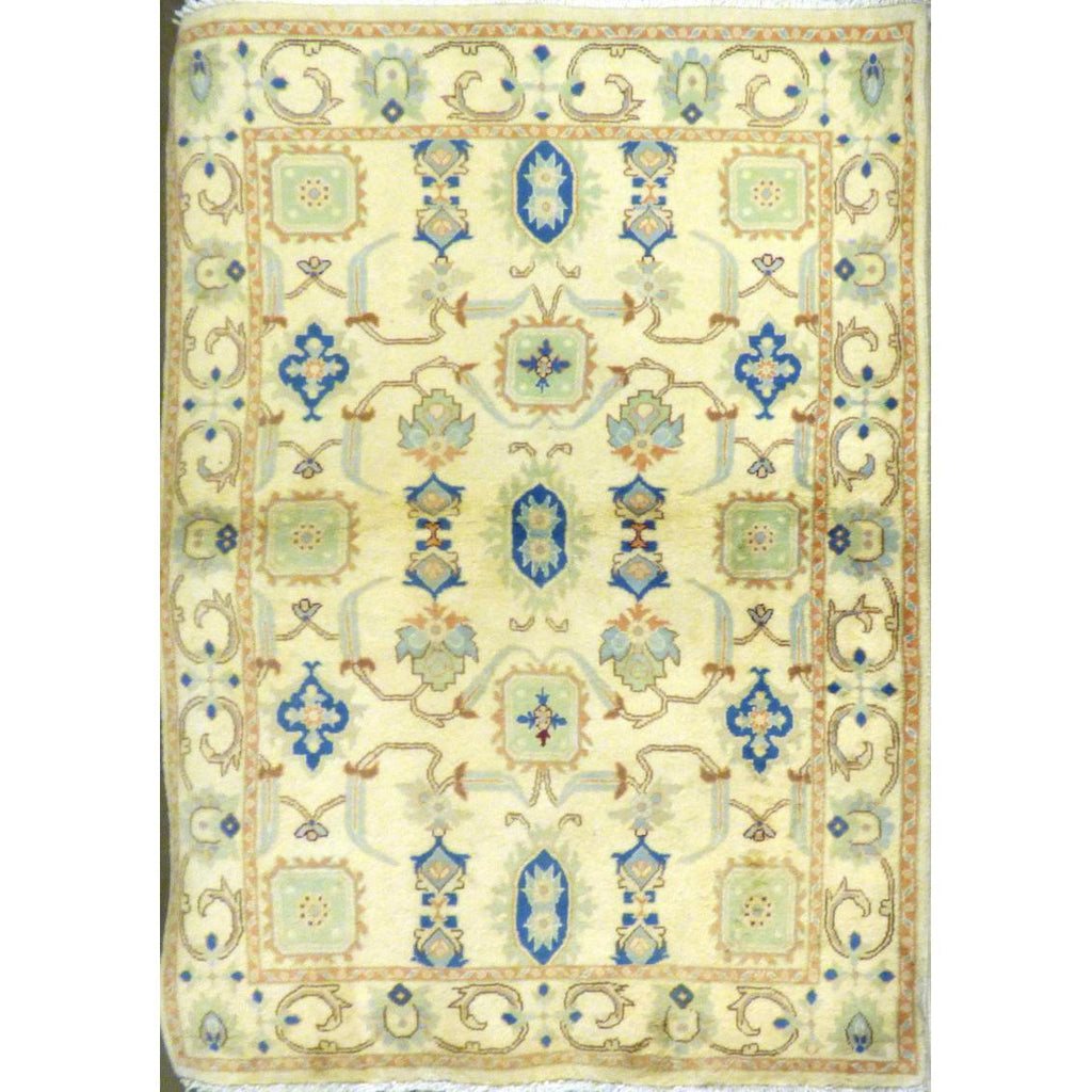 "persian rug sarough Traditional Style Hand-Knotted Indoor Area Rug with Natural Wool and Cotton (6'7"" X 4'3"") ABCRG1031"