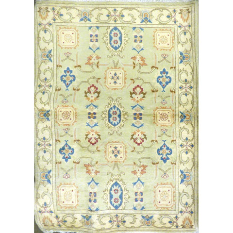 "persian rug sarough Traditional Style Hand-Knotted Indoor Area Rug with Natural Wool and Cotton (6'9"" X 4'3"") ABCRG1032"