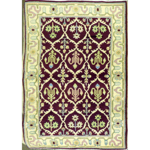 "persian rug sarough Traditional Style Hand-Knotted Indoor Area Rug with Natural Wool and Cotton (6'11"" X 4'0"") ABCRG1033"