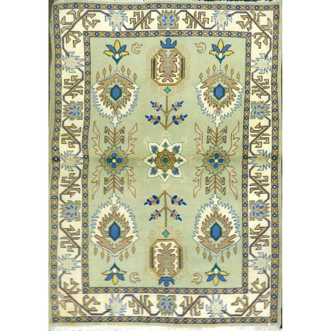 "persian rug sarough Traditional Style Hand-Knotted Indoor Area Rug with Natural Wool and Cotton (6'6"" X 6'3"") ABCRG1034"
