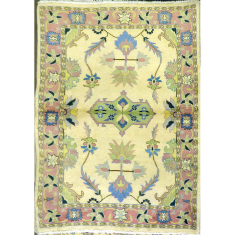 "persian rug sarough Traditional Style Hand-Knotted Indoor Area Rug with Natural Wool and Cotton (6'5"" X 4'0"") ABCRG1035"