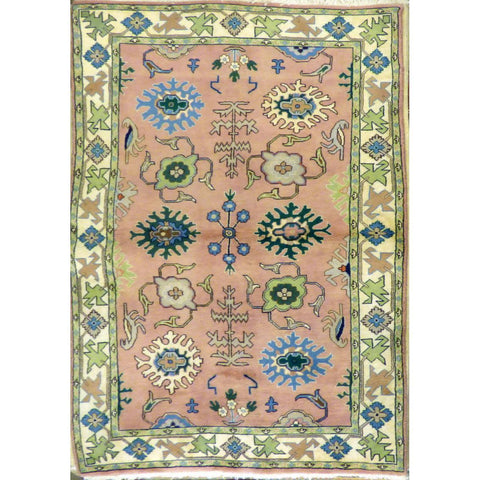 "persian rug sarough Traditional Style Hand-Knotted Indoor Area Rug with Natural Wool and Cotton (6'7"" X 3'10"") ABCRG1036"