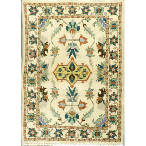 "persian rug sarough Traditional Style Hand-Knotted Indoor Area Rug with Natural Wool and Cotton (6'3"" X 3'10"") ABCRG1038"