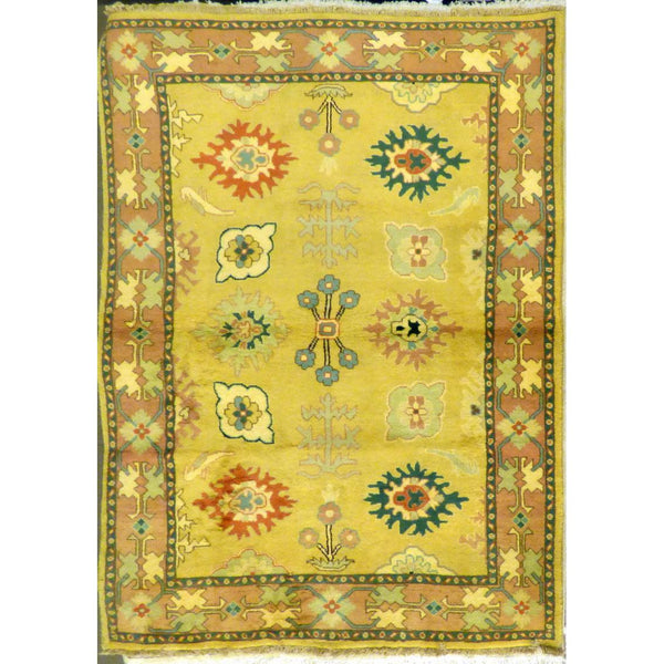 "persian rug sarough Traditional Style Hand-Knotted Indoor Area Rug with Natural Wool and Cotton (6'5"" X 4'0"") ABCRG1039"