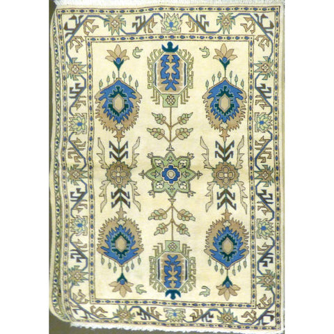 "persian rug sarough Traditional Style Hand-Knotted Indoor Area Rug with Natural Wool and Cotton (6'10"" X 3'11"") ABCRG1041"