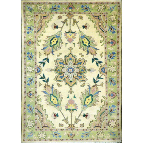 "persian rug sarough Traditional Style Hand-Knotted Indoor Area Rug with Natural Wool and Cotton (7'5"" X 4'2"") ABCRG1042"