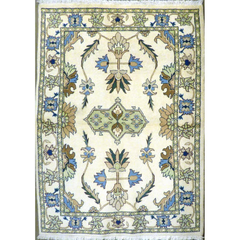 "persian rug sarough Traditional Style Hand-Knotted Indoor Area Rug with Natural Wool and Cotton (6'2"" X 4'1"") ABCRG1044"