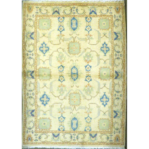 "persian rug sarough Traditional Style Hand-Knotted Indoor Area Rug with Natural Wool and Cotton (6'7"" X 4'4"") ABCRG1045"