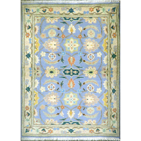 "persian rug sarough Traditional Style Hand-Knotted Indoor Area Rug with Natural Wool and Cotton (6'7"" X 4'3"") ABCRG1046"