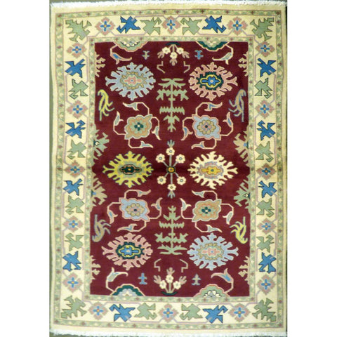 "persian rug sarough Traditional Style Hand-Knotted Indoor Area Rug with Natural Wool and Cotton (6'4"" X 4'1"") ABCRG1048"