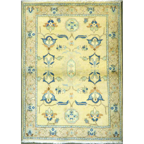 "persian rug sarough Traditional Style Hand-Knotted Indoor Area Rug with Natural Wool and Cotton (6'7"" X 4'1"") ABCRG1049"