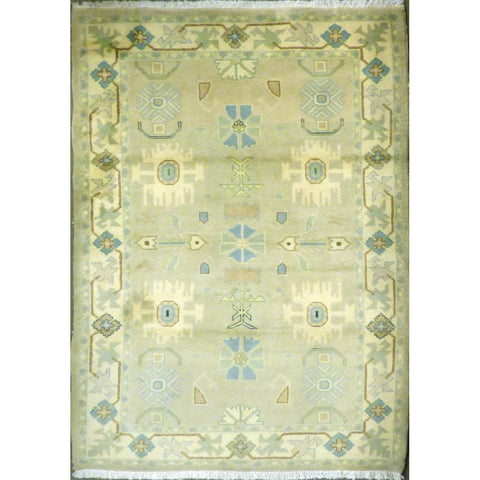 "persian rug sarough Traditional Style Hand-Knotted Indoor Area Rug with Natural Wool and Cotton (7'1"" X 3'11"") ABCRG1050"