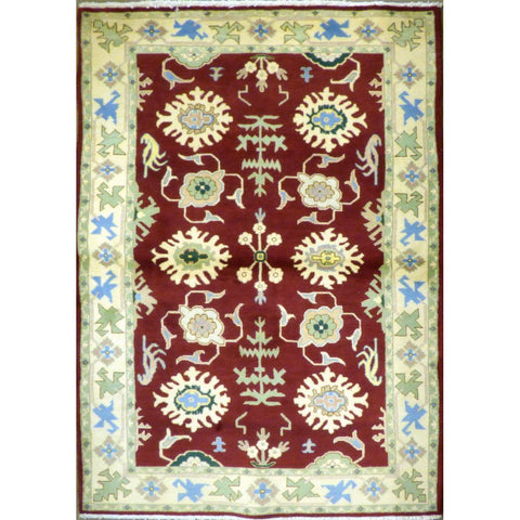 "persian rug sarough Traditional Style Hand-Knotted Indoor Area Rug with Natural Wool and Cotton (6'10"" X 3'11"") ABCRG1051"