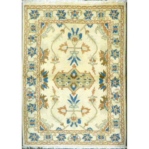 "persian rug sarough Traditional Style Hand-Knotted Indoor Area Rug with Natural Wool and Cotton (6'2"" X 3'10"") ABCRG1052"