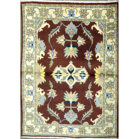 "persian rug sarough Traditional Style Hand-Knotted Indoor Area Rug with Natural Wool and Cotton (6'2"" X 3'11"") ABCRG1053"