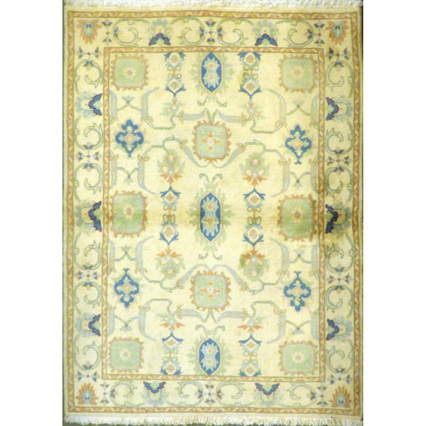 "persian rug sarough Traditional Style Hand-Knotted Indoor Area Rug with Natural Wool and Cotton (6'4"" X 4'0"") ABCRG1054"