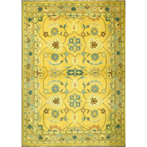 "persian rug sarough Traditional Style Hand-Knotted Indoor Area Rug with Natural Wool and Cotton (6'5"" X 4'2"") ABCRG1055"