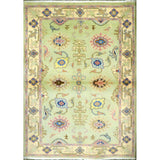 "persian rug sarough Traditional Style Hand-Knotted Indoor Area Rug with Natural Wool and Cotton (6'11"" X 4'0"") ABCRG1056"