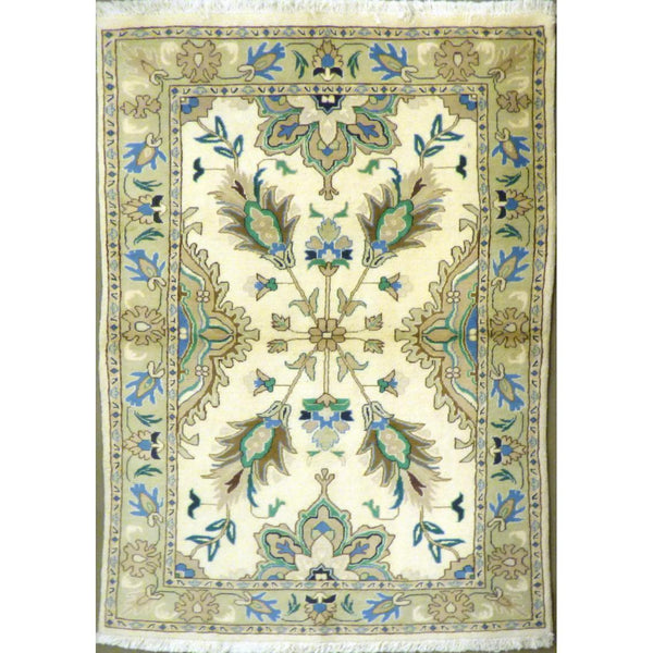 "persian rug sarough Traditional Style Hand-Knotted Indoor Area Rug with Natural Wool and Cotton (6'3"" X 3'9"") ABCRG1057"