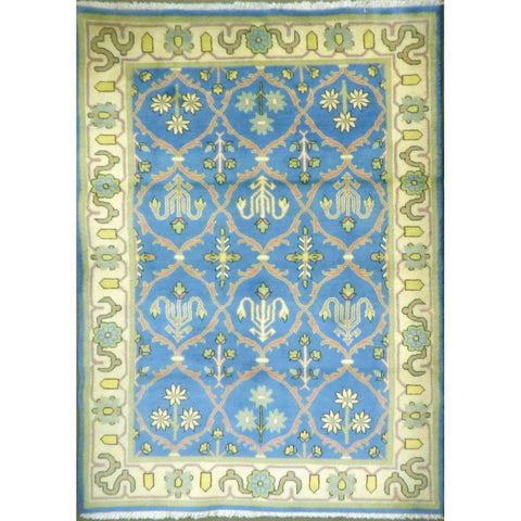 "persian rug sarough Traditional Style Hand-Knotted Indoor Area Rug with Natural Wool and Cotton (7'3"" X 4'1"") ABCRG1058"