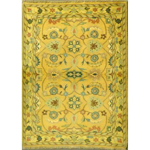 "persian rug sarough Traditional Style Hand-Knotted Indoor Area Rug with Natural Wool and Cotton (6'1"" X 4'1"") ABCRG1059"